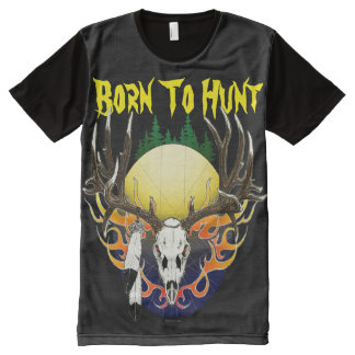 Deer skull in flames All-Over print T-Shirt