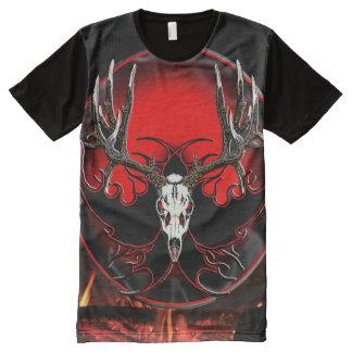 Deer Skull All-Over Print T-Shirt