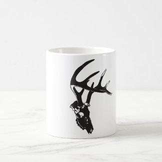 Deer skull basic white mug