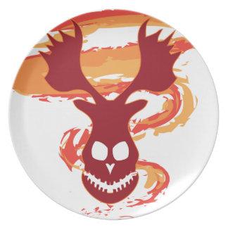 Deer Skull Plate