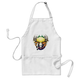 Deer skull with Eagle feathers Aprons