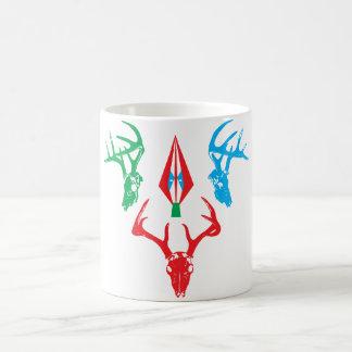 deer skulls basic white mug