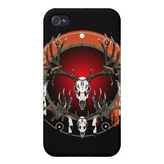 Deer skulls on red iPhone 4 case