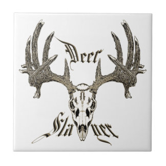 Deer slayer ceramic tile