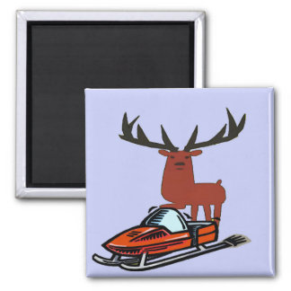 Deer & Snow Ski, add text Magnet