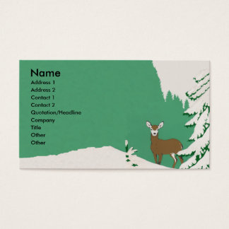 Deer Snow Winter Scene Business Card