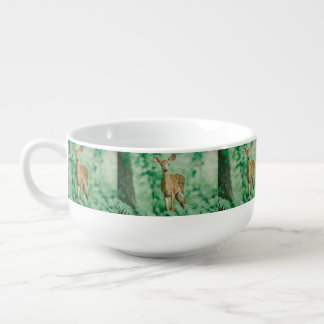 Deer Soup Bowl With Handle