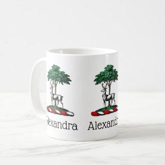 Deer Stag by Tree Heraldic Crest Emblem Coffee Mug