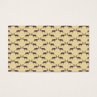 Deer Stag Pattern on Beige. Business Card