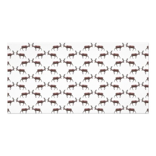 Deer Stag Pattern. Photo Card Template