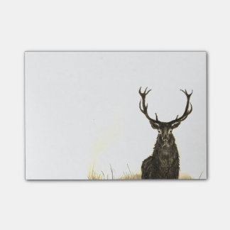 "Deer Stag Wildlife Post-It Sticky Notes 4"" x 6"""