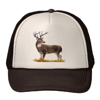 Deer standing alone on customisable products trucker hats