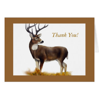 Deer standing alone on customizable products greeting card