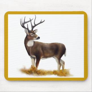 Deer standing alone on customizable products mouse pad