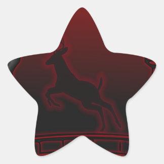 Deer Star Sticker