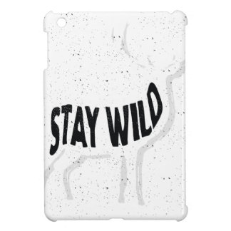 Deer - Stay wild iPad Mini Cover