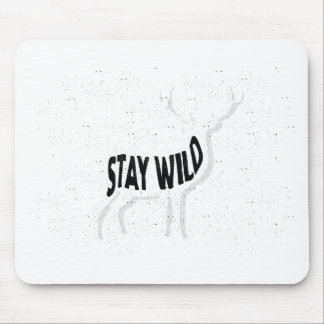 Deer - Stay wild Mouse Pad