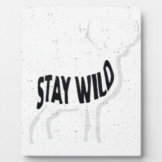 Deer - Stay wild Plaque