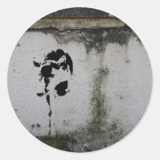 Deer Stencil Round Sticker