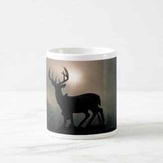 Deer Sunset Basic White Mug