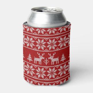 Deer Sweater Pattern Can Cooler