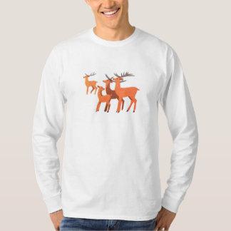 Deer t-shirt long sleeve - modern animal art