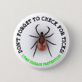 Deer Tick Lyme Disease Awareness Button
