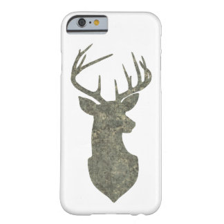 Deer Trophy Buck Silhouette in Camouflage Colors Barely There iPhone 6 Case