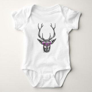 Deer wearing Pink Sunglasses Infant Creeper