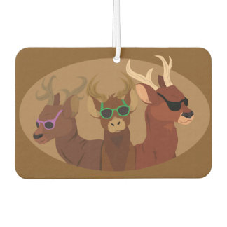 Deer Wearing Sunglasses Car Air Freshener