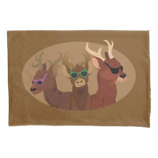 Deer Wearing Sunglasses Pillowcase