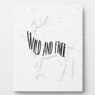 Deer - Wild and free Plaque