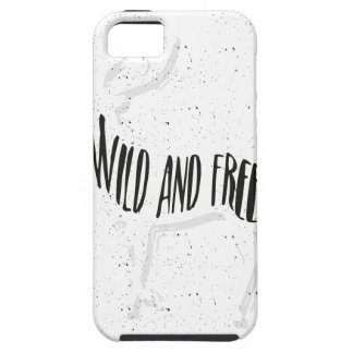Deer - Wild and free Tough iPhone 5 Case
