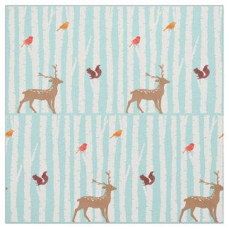 Deer Winter Wonderland Fabric