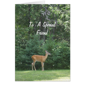 Deer Wishing Friend a Happy Father's Day Card