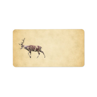 Deer with a Grungy Look Address Label