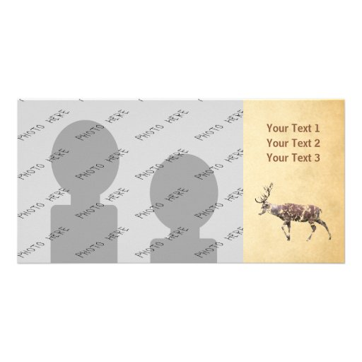 Deer with a Grungy Look Picture Card