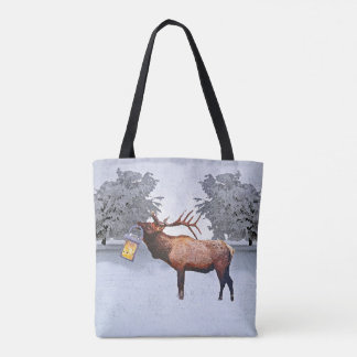 Deer With A Lantern Tote Bag
