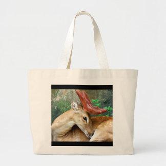 Deer with Felt Antlers Tote Bag