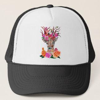 Deer with Flowers2 Trucker Hat