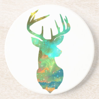 Deer with Galaxy Drink Coaster