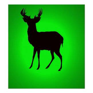 deer with green background image on posters