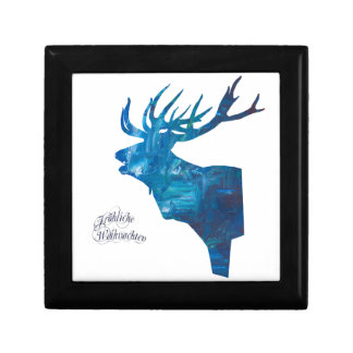 Deer with merry Christmas Gift Box