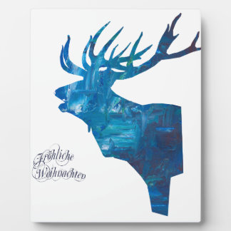 Deer with merry Christmas Plaque