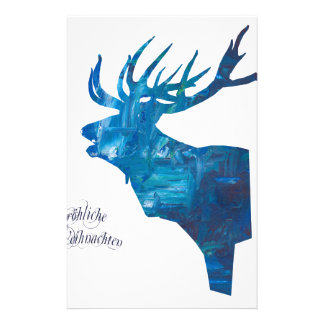 Deer with merry Christmas Stationery