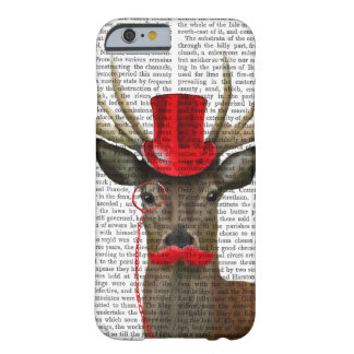 Deer with Red Top Hat and Moustache Barely There iPhone 6 Case