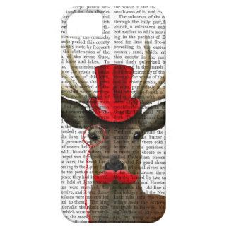 Deer with Red Top Hat and Moustache iPhone 5 Cover