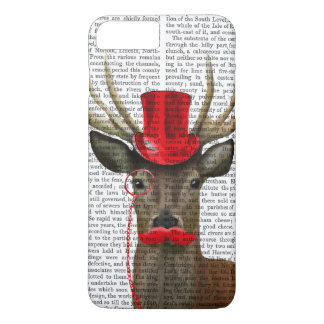 Deer with Red Top Hat and Moustache iPhone 7 Plus Case