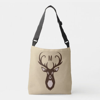 Deer with Your Monogram custom bags