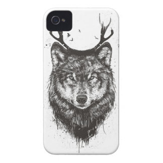 Deer wolf (black and white) iPhone 4 case